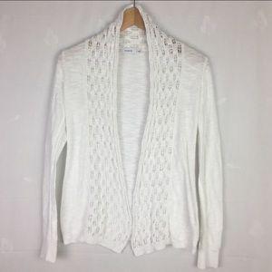 Ricki's Crochet Knit White Shawl Cardigan